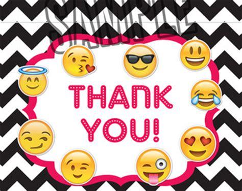 emoji thank you emoji thank you card etsy