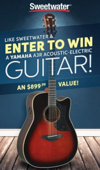 Sweetwater Sweepstakes - sweetwater sound yamaha giveaway chance to win a3r acoustic electric guitar
