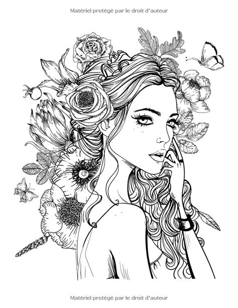 coloring pages of people s hair 17 meilleures id 233 es 224 propos de portraits adultes sur