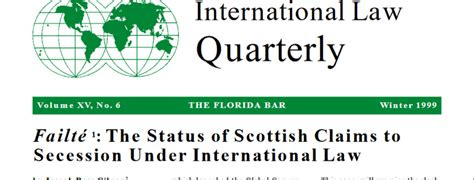law sections pdf international law quarterly winter 1999 international