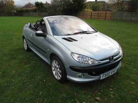 peugeot 206 convertible interior peugeot 2002 02 reg 206 cc convertible 5 speed black