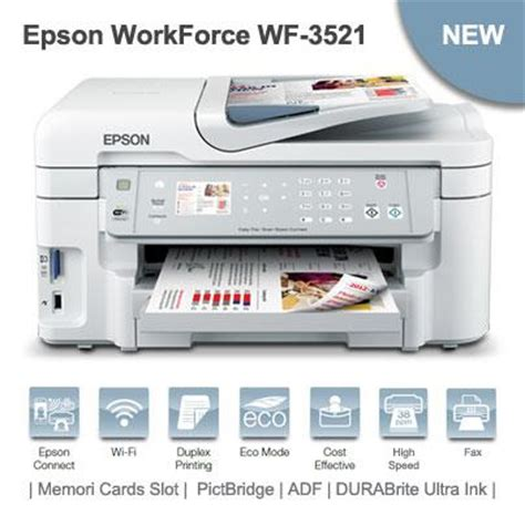 Printer Multifungsi Terbaru epson workforce wf 3521 printer multifungsi dengan fitur