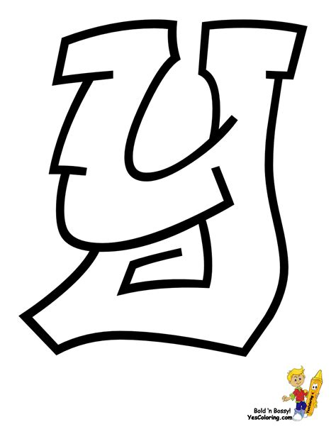 Letter Y Drawing by Cool Graffiti Abc Coloring Pages Abc Free Alphabet
