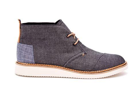 mens black chukka boots black chambray s mateo chukka boots toms 174