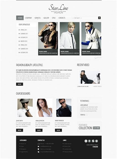 templates for fashion website fashion website template 38684