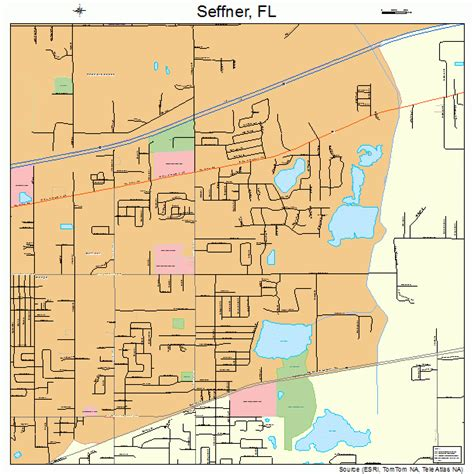 where is ta florida on a map map of florida showing seffner
