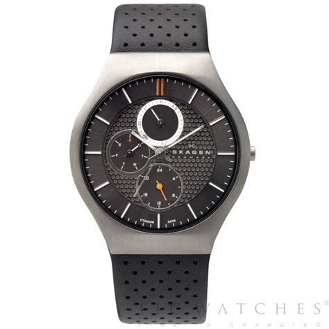 buy black titanium skagen mens 806xltlm uk