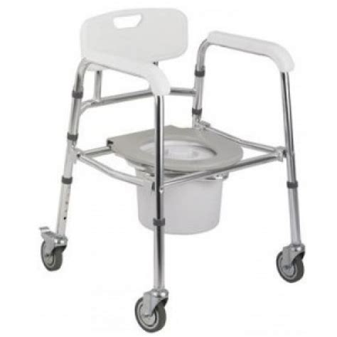 mobile commode shower chair with wheels