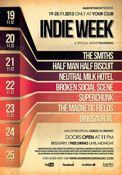 poster event design inspiration 33 amazing gig poster flyer templates vandelay design