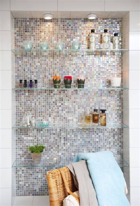 Nice bathroom shelves =). Take out medicine cabinets and