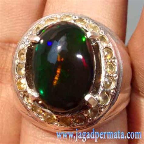 Batu Akik Ametrine Oval Unik batu permata black opal kalimaya banten jual batu permata