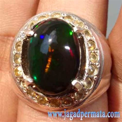Kalimaya Banten Cutting Oval batu permata black opal kalimaya banten jual batu permata