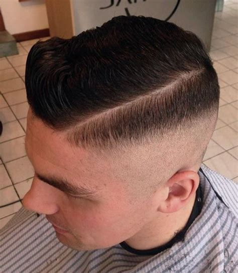 zero fade haircut zero fade side part slick men s hairstyles pinterest