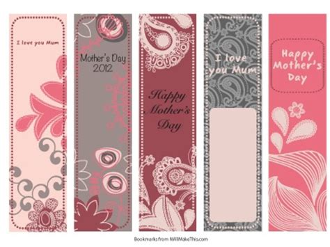 printable bookmarks mother s day free printable bookmarks for mother s day mom s day