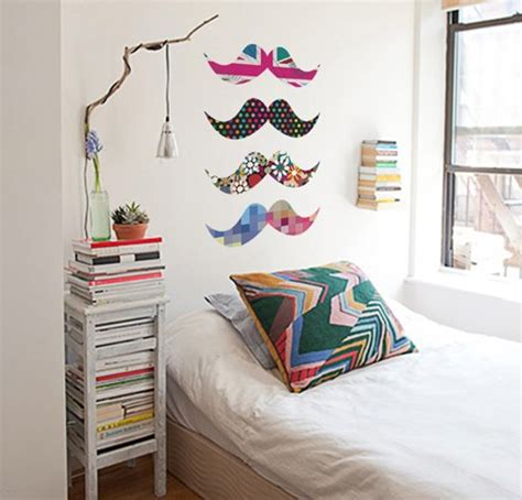 Mustache Bedroom by Bed Bedroom Moustache Room Image 713708 On Favim