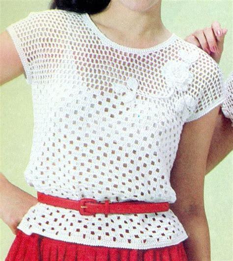 pinterest filet crochet blouses patr 243 n para tejer blusa calada con flores a crochet bluz