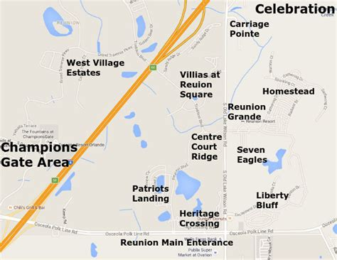 map of reunion florida reunion resort reunion homes for sale