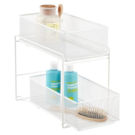 Mesh Kitchen Drawer Organizer White 2 Drawer Mesh Organizer The Container Store