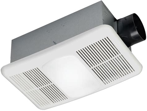 Bathroom Vent Heater Light White Bathroom Exhaust Fan With Heater And Light 1 5 Sone 80 Cfm Ceiling Vent Ebay