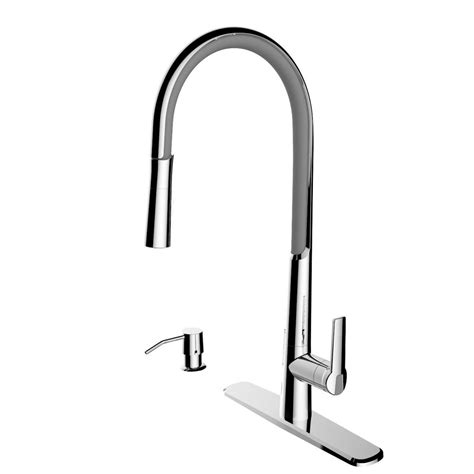 kitchen faucet spout cleanflo breeze single handle pull down sprayer kitchen