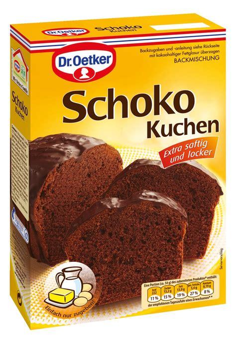 dr oetker backrezepte kuchen dr oetker schoko kuchen 485g kaufen bei lieferello