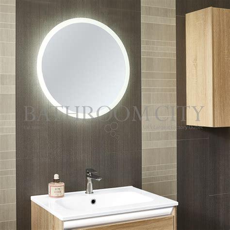 bathrooms double backlit round bathroom mirror backlit planet round led backlit mirror buy online at bathroom city