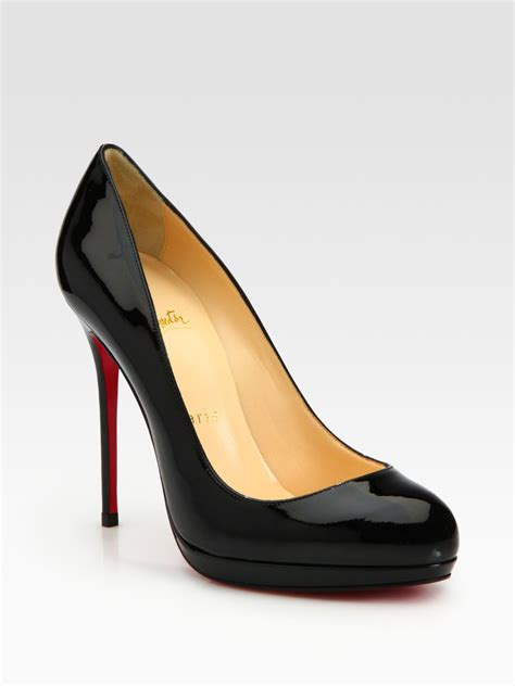 Christian Louboutin Platform Heels by Christian Louboutin Patent Leather Platform Pumps In Black