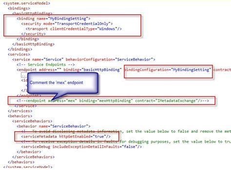 wcf tutorial interview questions wcf configuration to enable wcf windows authentication