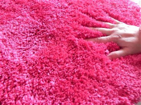 pink plush rug new pink plush shag shaggy floor rug ebay