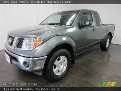 find used 2006 nissan frontier se king cab 4wd damaged salvage low miles priced to sell in storm gray 2006 nissan frontier se king cab 4x4 graphite interior gtcarlot com vehicle