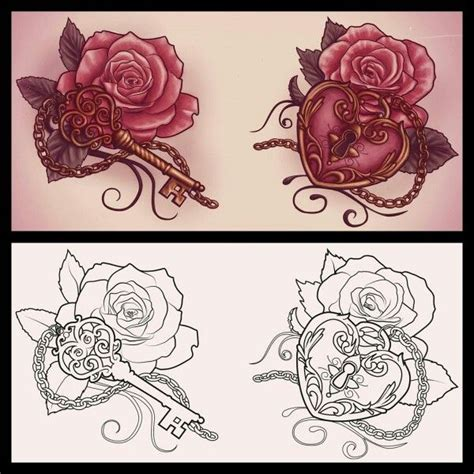 rose locket tattoo locket with a this but make the locket light