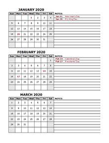 printable  monthly calendar templates calendarlabs