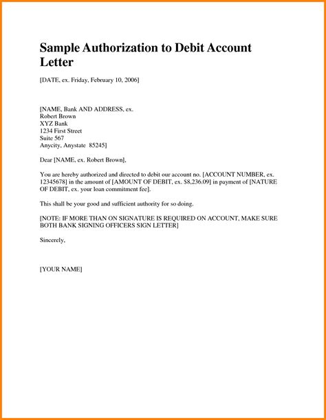 Authorization Letter To Bank 8 Bank Authorization Letter Card Authorization 2017