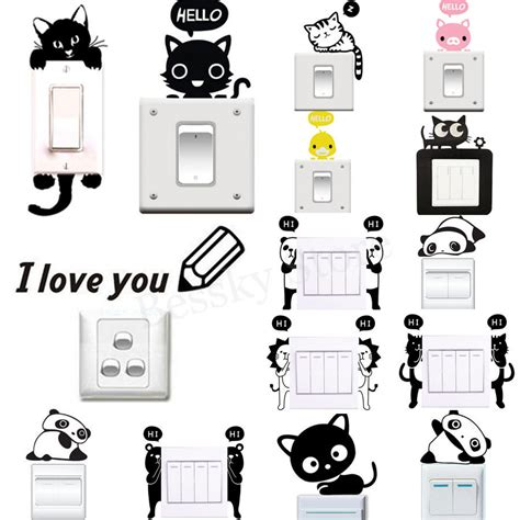 home decor decals various wall stickers light switch decor decals mural