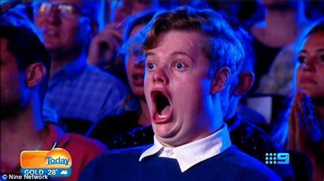 Jaw Drop Meme - australia s got talent audience member who looks like the