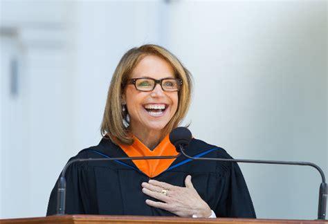 katie couric uva commencement speech katie couric rockin her alma mater s orange blue at
