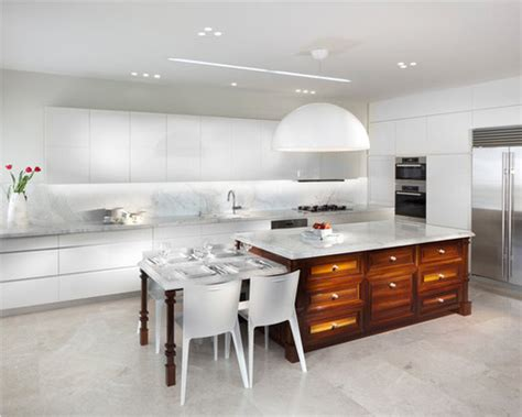 distance  kitchen cabinets  breakfast table