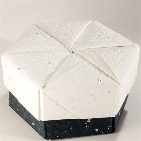 Decorative Origami Boxes - decorative hexagonal origami gift box with lid 20