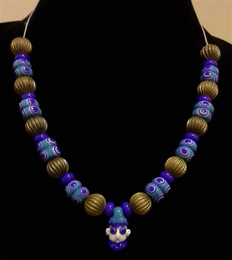 elysabeth underhill phoenician glass bead necklace