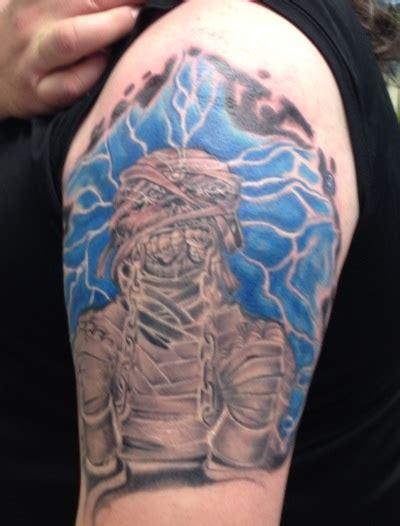 my husbands eddie tattoo from iron maiden tattoos