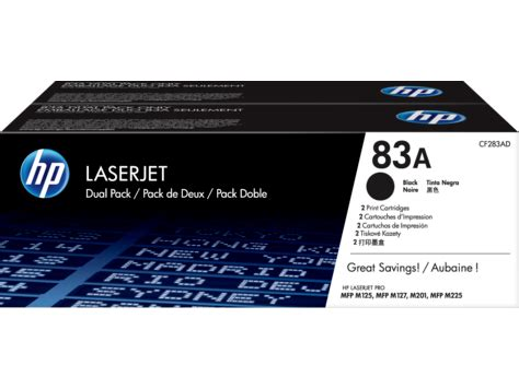 Toner Hp 83a Original by Hp 83a 2 Pack Black Original Laserjet Toner Cartridges