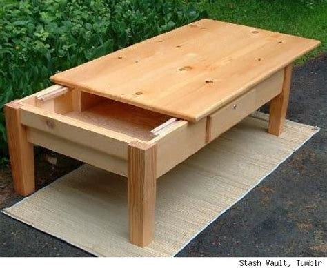 Storage Coffee Table Plans Coffee Table With A Sliding Top To Reveal The Compartment This Would Be A Great Place To