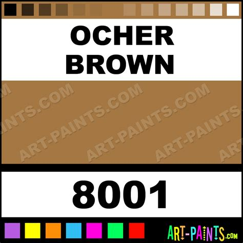 ocher brown glossy acrylic airbrush spray paints 8001 ocher brown paint ocher brown color