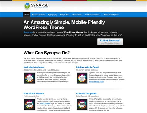 wordpress layout simple synapse wordpress theme by simple themes