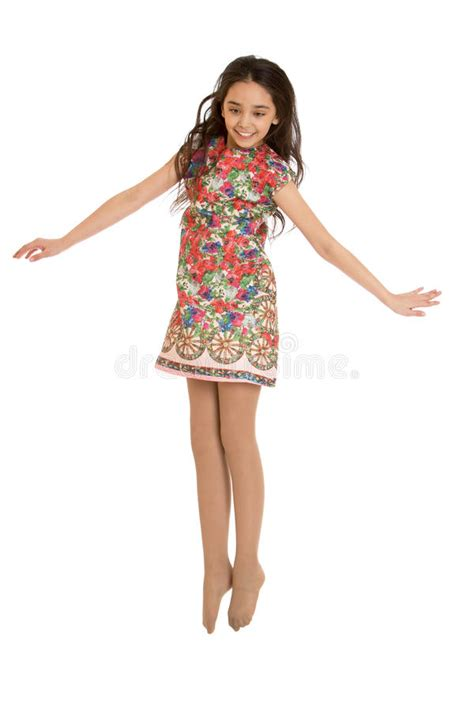young girl short dress stock photos images pictures cheerful teen girl in short summer dress jumping stock