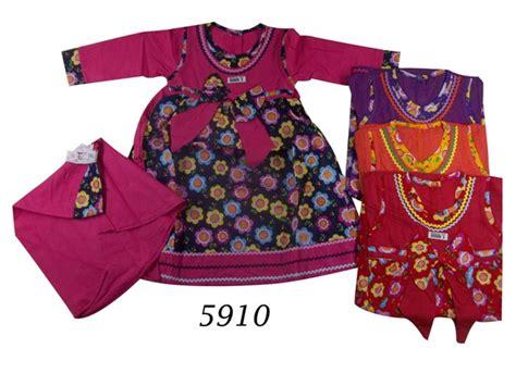 Harga Gamis Merk Motif jual baju muslim gamis motif bunga matahari 5910 www