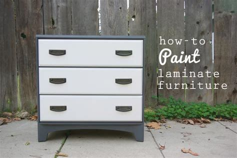 Painting A Veneer Dresser by Oleander And Palm How To Paint Laminate Furniture