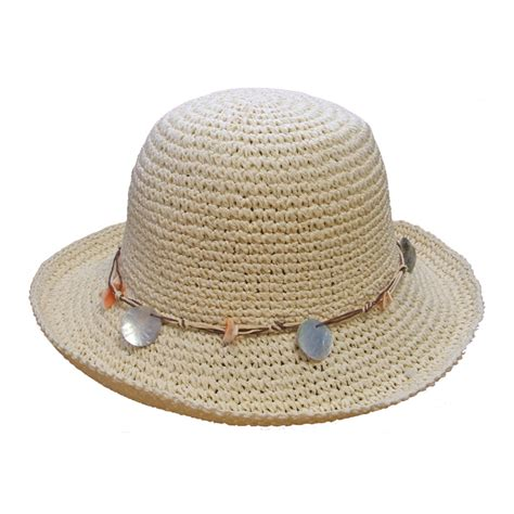 s89 s crushable straw hat shell band