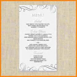free word menu templates 8 menu templates free word sle of invoice