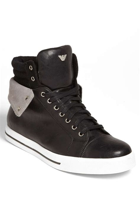 high top mens sneakers armani high top sneaker